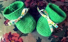 Patucos de punto #tejer #knitting