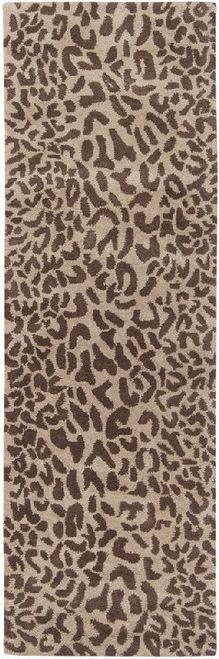 """2'6""""x8' leopard runner"""