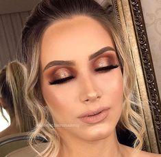 Nails Neutral Design Eye Makeup 37 New Ideas Glam Makeup, Pretty Makeup, Makeup Inspo, Bridal Makeup, Makeup Inspiration, Beauty Makeup, Makeup Is Life, Body Makeup, Makeup Goals
