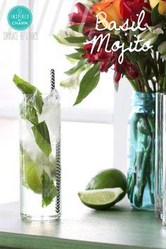 Basil Mojito - a delicious twist on the classic mojito!