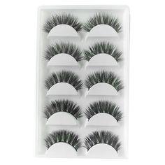 5 Pairs Luxurious 100% Real Mink Fur 3D False Eyelashes Natural Long False Eyelashes Extension Lashes Eye Makeup Tools M03476