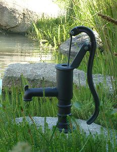 Antique Style Solid Cast Iron Hand Water Pump Garden Feature | eBay