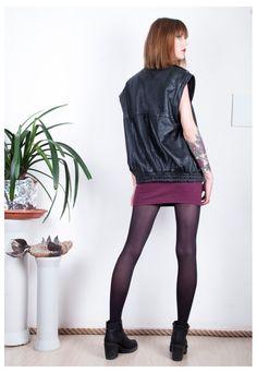 Leather vest jacket 90s grunge style oversized punk jacket   Pop Sick   ASOS Marketplace