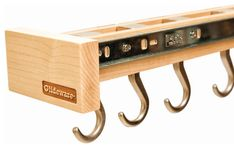 Glideware Pan 7 Hook Utility Organizer with Blum Runners maple - Racks & Holders Kitchen Organizer Rack, Kitchen Organization, Walmart, Hardware, Runners, Kitchens, Log Projects, Accessories, Hallways