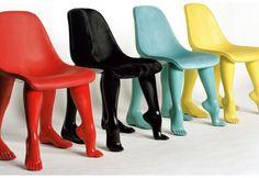 Pharrell Williams Chair, Perspective / Edition limitée à 8 exemplaires par couleur. Couleurs disponibles : rouge, noir, bleu, jaune  Structure et piètement en résine teintée, assise en cuir. Body and feet in tinted resin - seat cover in leather.  #GaleriePerrotin