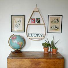 MidCentury Bentwood Hanging Shelf by TheWavertreeCo on Etsy, $160.00