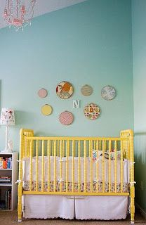 love the painted crib