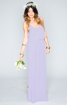 Kendall Maxi Dress in Lilac Crisp from Show Me Your MuMu