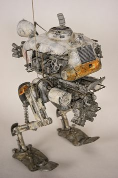 Practical and functional machinery Metal Animal, Retro Robot, Robot Design, Mechanical Design, Maker, Designer Toys, Sci Fi Art, Dieselpunk, Metal Art