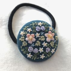Simple Embroidery, Flower Embroidery, Embroidery Patterns, Hand Embroidery, Hand Stitching, Hair Clips, Embellishments, Coin Purse, Ribbon