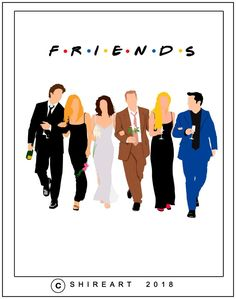 Friends TV Show Minimalist Poster