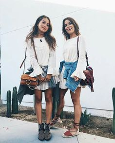 Outfit on the left, like the boots and the bag, puts the outfit less messy.