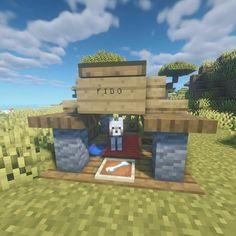 Photo Minecraft, Minecraft Dog House, Minecraft House Tutorials, Minecraft Mansion, Easy Minecraft Houses, Minecraft Room, Minecraft Plans, Amazing Minecraft, Minecraft Tutorial