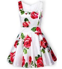 cdfbf2f8ad0d25 Bandeau Floral Tank Dress - JUICYWARDROBE Dress Red