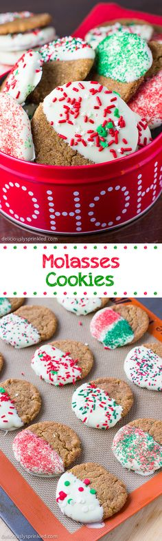 Molasses Cookies- super-soft, delicious and perfect for the holidays!