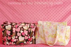 Dolly Diaper Bag- sized for an American Girl doll but could easily be enlarged for a real diaper bag!