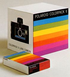 Some perceptive comments about Polaroid's color stripes from the designer, Paul Giambarba.