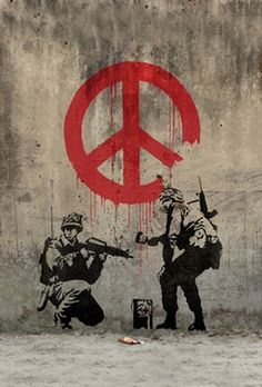 Soldiers Painting Peace by Banksy