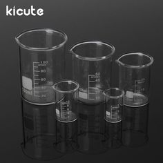 Kicute One Set Glass Beaker Set Clear Glassware Borosilicate Glass Laboratory Educational Supplies Macedonia, Montenegro, Seychelles, Moldova, Grenada, Honduras, Pint Glass, Colored Glass, Antigua