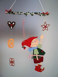 Fensterbild - Weihnachtswichtel  - Weihnachten - Dekoration - Tonkarton!