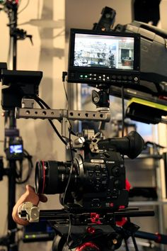 """photo by @AbelCine . Marshall's 7"""" LCD monitor mounted on the Canon C300.  #movcam #c300 #c500"""