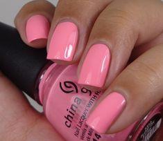 China Glaze:  ★ Float On ★   China Glaze Off Shore Collection Summer 2014. Pink nail polish.