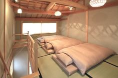 High Class White Mother-Goose Futons are provided - Kyoto house rental
