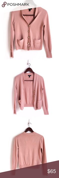 Blush J. Crew 100% Wool Cardigan J. Crew 100% Merino wool V-neck cardigan sweater. Blush Color. Excellent Preowned Condition 🚫No Trades🚫 Due to lighting, the items color is slightly different from photos. Please feel free to ask any questions! Be sure to check out my bundle discount as well. J. Crew Sweaters Cardigans