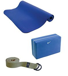 Nike Yoga Mat, Block, and Stretching Strap.  Yoga should be an essential part of anyones workout routine
