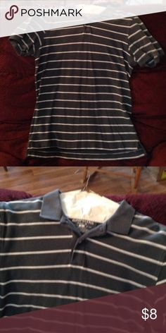 Pullover Fair condition pullover shirt. Kind of a grey blue with white stripe. Aeropostale Shirts Polos