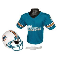 Franklin Sports NFL Team Helmet and Jersey Set - Ages - Miami Dolphins 22e8b5677
