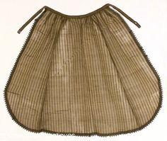 Unusual fancy silk organdy apron ca. 1860