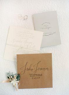 Beautiful Rustic Chic Wedding Invitation