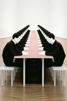 Katharina Fritsch, The Dinner Party (1988)