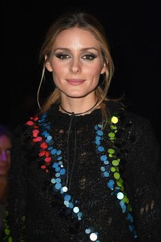 Olivia Palermo attends the Versace show during Milan Fashion Week Spring/Summer 2017 on September 23 2016 in Milan Italy