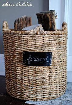 They have these round and square chalkboard baskets at Target right now. They are awesome!