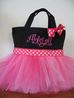 dance tote bag... I am definitely making one of these instead of buying one and I will take it to be embroidered...