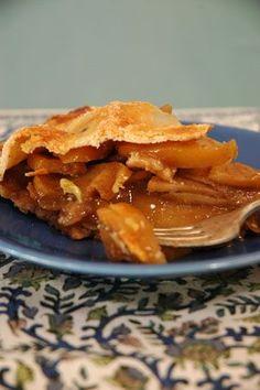 Clássica Torta americana de maça, para mim aceito com canela e sorvete de creme.