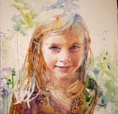 """Carole Hillsbery          https://sites.google.com/site/chillsbery/about-carole  Awards and Show 2013  Watercolor Society of Oregon """"A Fie..."""