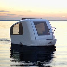 Is it a caravan or a floating leisure pod? The incredible Schwimmcaravan is both, because as well as functioning as a luxe towable caravan this pimped-up pod doubles as an electric-powered boat. Onlookers won't know whether to applaud you or throw you a life ring. 'Mmm, salmon for supper.'
