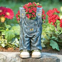 Overall Jeans Planter would be cute as a welding project