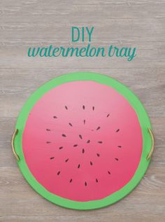 Add a sweet touch to your summer barbecues with this adorable DIY watermelon tray.