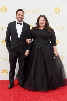 Pin for Later: Stars Couple Up on the Emmys Red Carpet Melissa McCarthy and Ben Falcone