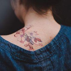 floral flourish tattly: