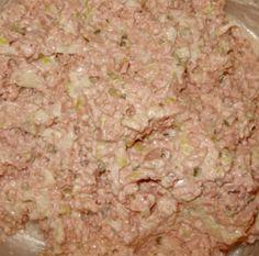 Ham (bologna) Salad With Bologna, Mayo, Pickle Relish, Chopped Onion, Worcestershire Sauce Ham Salad Recipes, Sandwich Recipes, Pork Recipes, Amish Recipes, Cooking Recipes, Bologna Recipes, Ham Salad Recipe With Bologna, Bologna Sandwich, Salads
