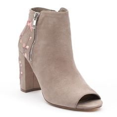 Candie's® Limo Women's Peep Toe Ankle Boots, Size: medium (8.5), Lt Beige