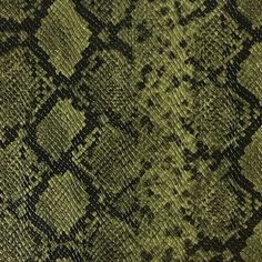 Vegan leather faux animal/ reptile/ snake skin vinyl upholstery fabric by the yard. Very realistic look and feel; this durable, heavy duty fake leather vinyl fabric Fabric Birds, Ikat Fabric, Vinyl Fabric, Green Fabric, Fall Collection, Motifs Animal, Animal Patterns, Snake Skin Pattern, Fabric Textures