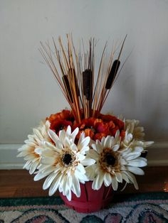 Fall flower arrangement.  SW