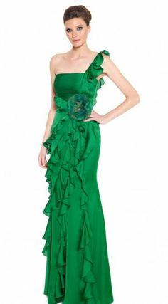 Vestidos de fiesta de color verde para las invitadas de 2013 [Fotos]