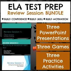 Every year as state exam time approaches, I conduct three review sessions after school (of course I offer fabulous prizes to those who attend! Treats = motivation!), and I use these THREE PowerPoint presentations and worksheets for the sessions.  Review sessions help to build skill, strategy, motivation, and excitement for Common Core State exams.